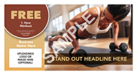 01-ConsumerServices-Exercise-Clubs-Fitness-Yoga-Premium-Postcard-Solo